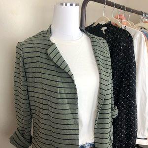 Anthropologie Jackets & Coats - Anthropologie Dolan Striped Jersey Jacket